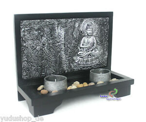 3d effekt deko buddha teelichthalter stein zen garten nr ab 9016 ebay. Black Bedroom Furniture Sets. Home Design Ideas
