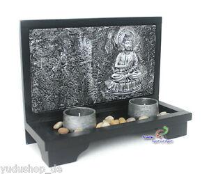 3D-Effetto-Decorazione-Buddha-Supporto-Candeline-Pietra-Giardino-Zen-Nr-AB-9016