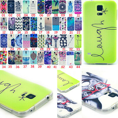 For Samsung Galaxy S5 / S5 MINI Gel Rubber Silicone Patterned Phone Case Cover
