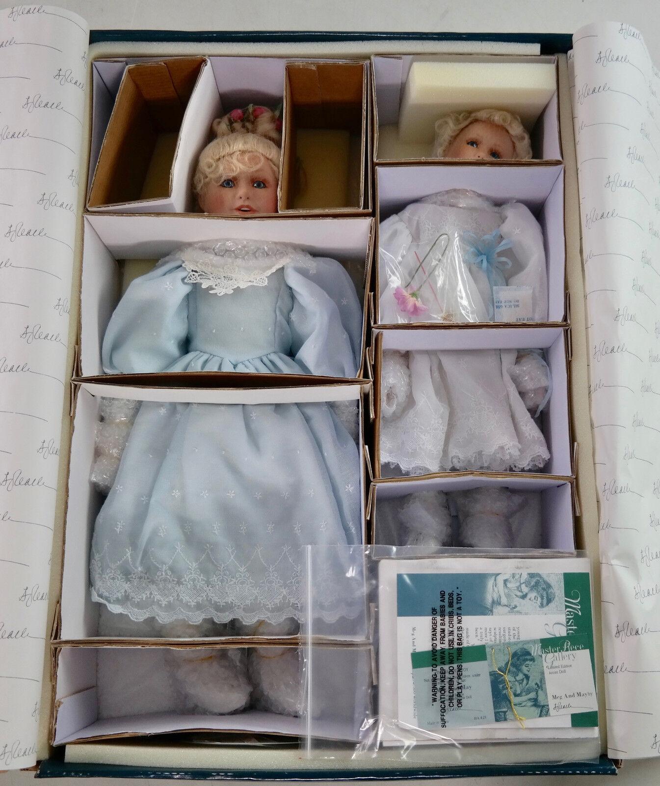 Rare MasterPiece Gallery  Meg & May  Ltd Edition S. Joy Calhoon Porcelain Dolls