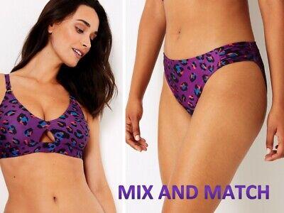 Womens Mix /& Match Animal Print Bikini Separates Tops /& Bottom Brief ex M/&S