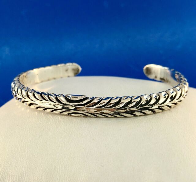 Native American Marked 925 Sterling Silver Diamond Etched