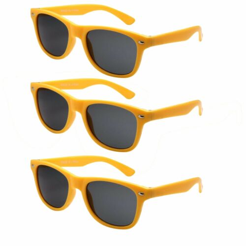 3 PAIR Kids Toddler Boys Girls Multi Colors 80/'s fun Sunglasses Retro Shades New