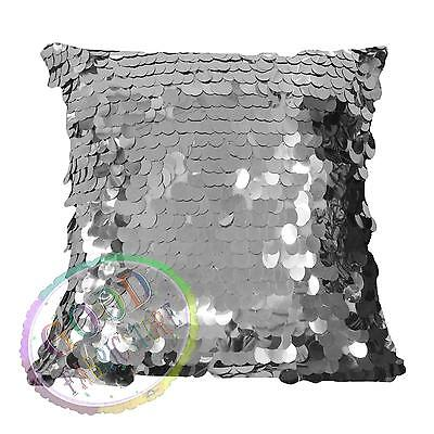 Gf503a Silver 18mm Sequins w/ Velvet Cushion Cover/Pillow Case*Custom Size*