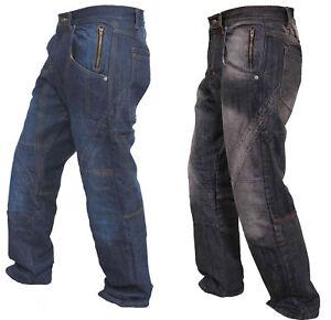 Mens-Denim-Work-Jeans-Hardwearing-Worker-Trousers-pockets-Working-Workwear-Pants