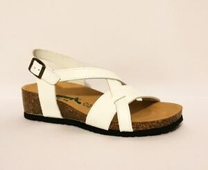 a4869f024997 Image is loading BIONATURA-12A826-WHITE-GENUINE-LEATHER-SANDALS-SUMMER-SHOES -