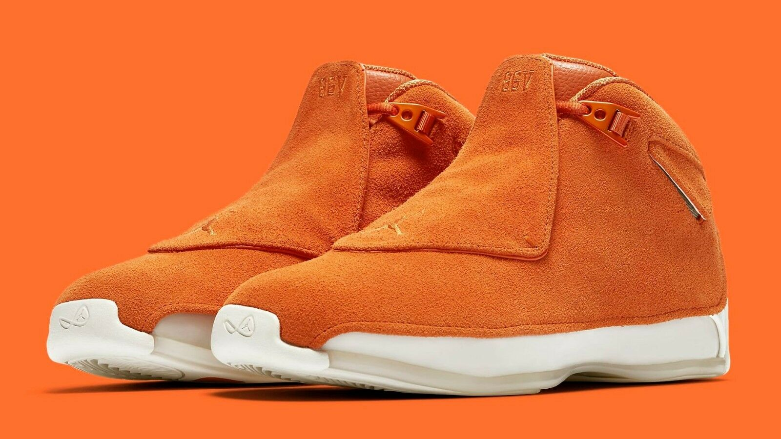 AIR JORDAN 18 RETRO  orange Suede  AA2494-801 Campfire orange Men's Size NOW