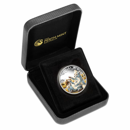 2016 White Lion Cubs Tuvalu 1//2 oz SIlver Proof 50c Half Dollar Coin Colorized