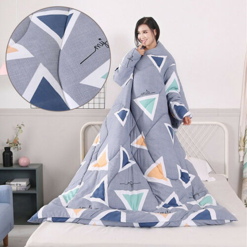 Winter Lazy Quilt With Sleeves Winter Super Warm Thickened Washed Quilt Blanket