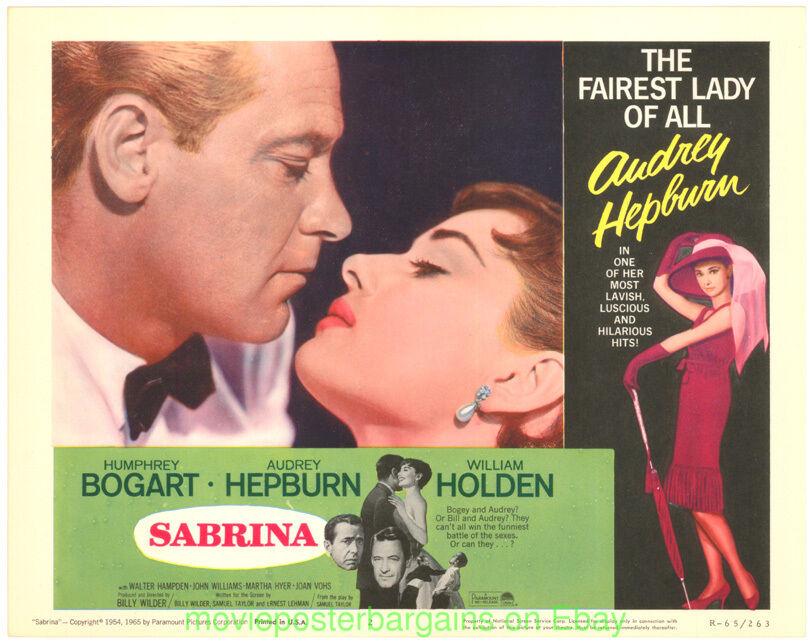 Sabrina Lobby Karte Set 11x14 R1965 Filmposter Audrey Hepburn Humphrey Bogart