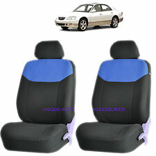 BLUE ELEGANT AIRBAG COMPATIBLE FRONT LOWBACK SEAT COVERS SET for MAZDA 3 6 CX-7