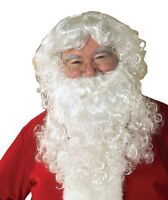 Santa Claus Beard And Wig Set, White, One Size, Christmas Costume Cosplay