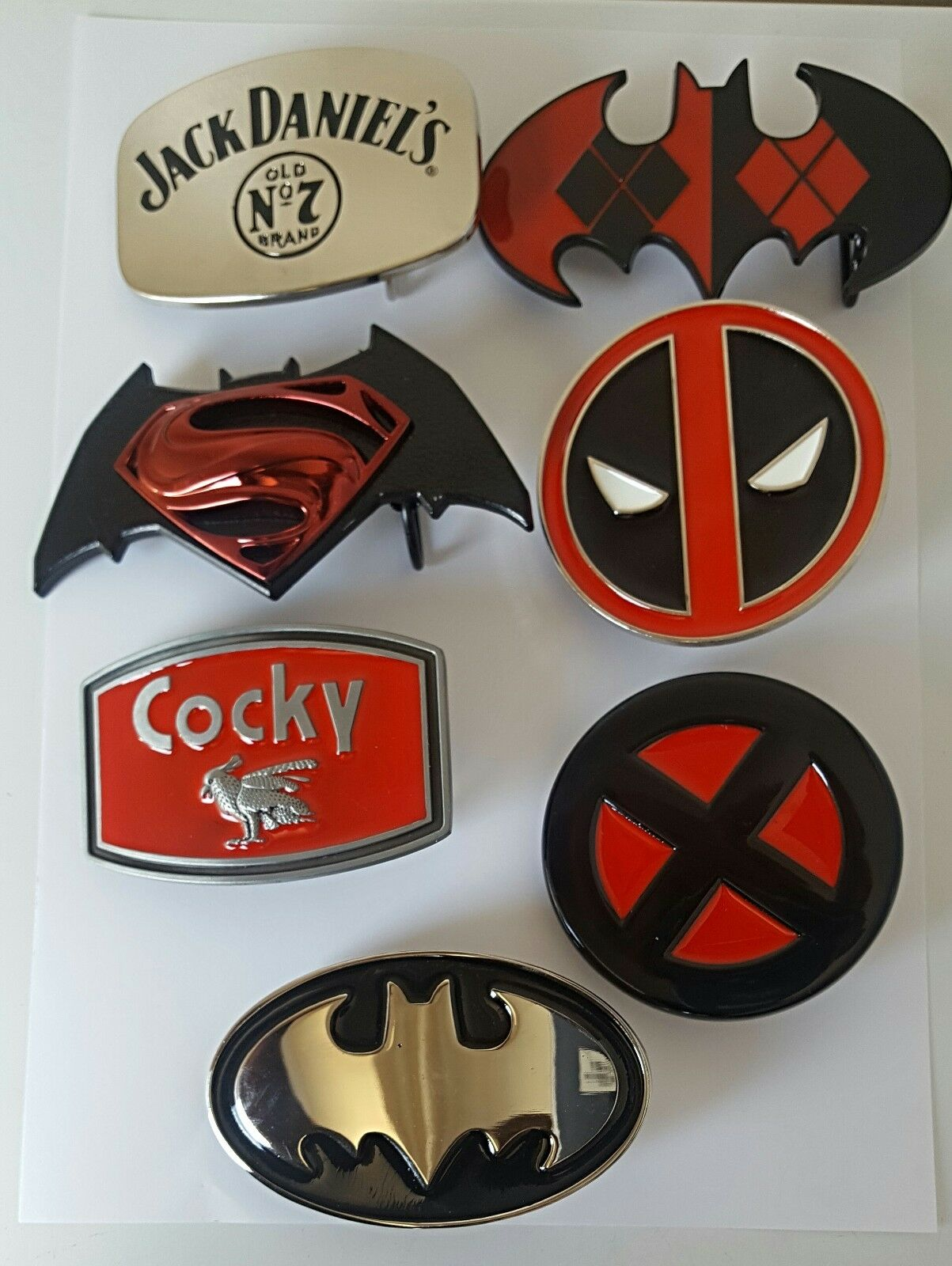 Belt Metal removable Belt Buckle with belt / Various Styles and Designs