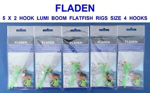 6 X 3 HOOK FLAPPER 2//0 RIGS  SEA FISHING LURES DAB PLAICE SOLE FLOUNDER