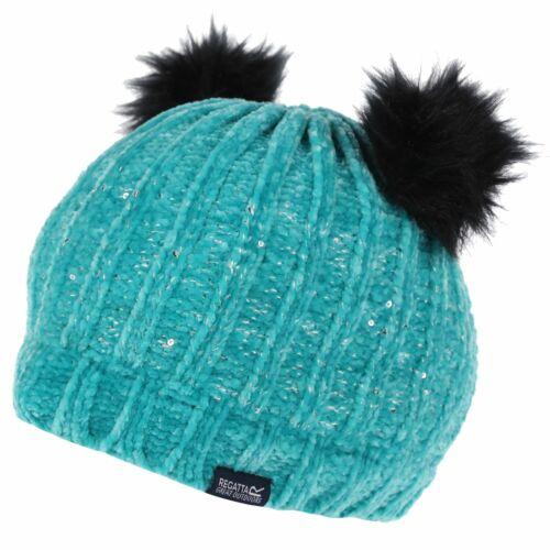 Regatta Kids/' Hedy Lux II Sequined Bobble Hat Blue