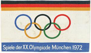Grosse Original Fahne Xx Olympische Spiele In Munchen Von 1972 Ebay