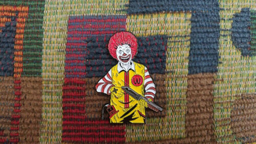10 Pack 1990's Horror Movie Pennywise The Clown Killer Clowns 90's Gore Hat Pins