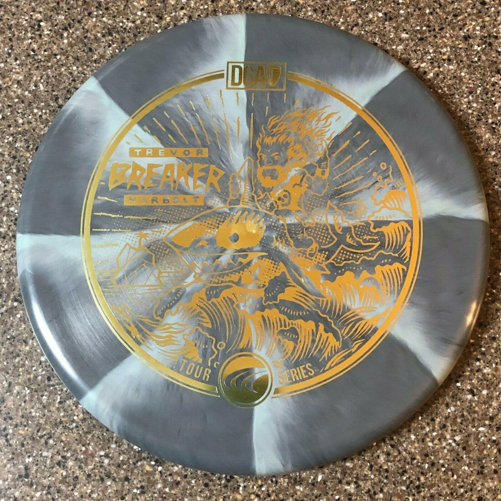 DGA SWIRLY PROLINE BREAKER Trevor Harbolt Tour Series Gray w/ Gold 173-174g Disc