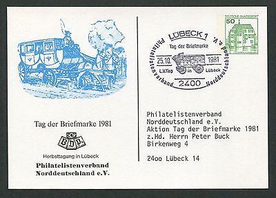 Gastfreundlich Brd Privat-ga 1981 Tag Der Marke Pferde-kutsche Pferd Horse LÜbeck D6156