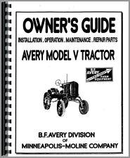 Avery Minneapolis Moline V Plow Tractor Amp Attachments Parts Operators Manual