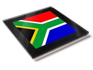 Afrique Du Sud Drapeau National Couleurs Premium Verre Table Dessous De Verre M6qjzrpp-08000024-435644015