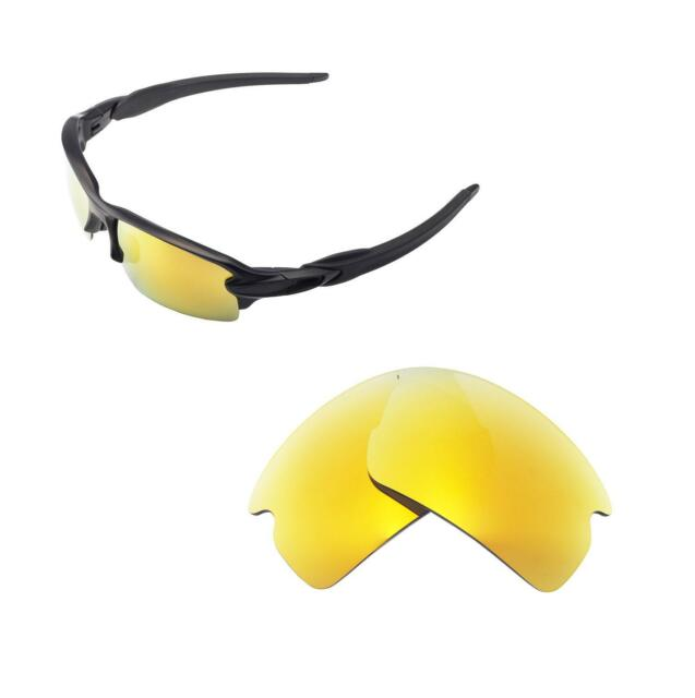 4ae41cf443 Walleva Polarized 24K Gold Replacement Lenses For Oakley Flak 2.0 Sunglasses