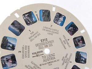 Disque-Stereo-VIEW-MASTER-1957-Grossglockner-zell-am-see-to-lienz-AUSTRIA-N-2312
