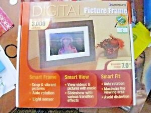 New Smartparts Digital Picture Frame Store 3000 Pics 7 Viewable