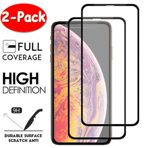 2X-FULL-COVER-10D-Tempered-Glass-Screen-Protector-For-iPhone-11-Pro-X-XR-XS-Max