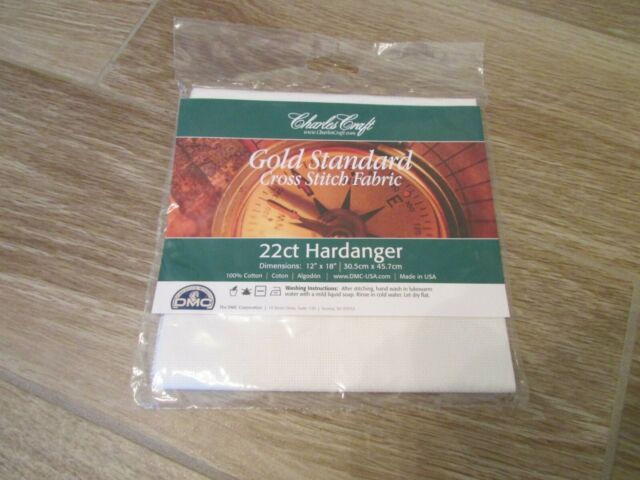DMC CR5240-6750 Classic Reserve Hardanger 22 Count White 12 by 18-Inch