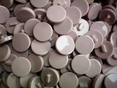 21mm 34L Ivory Pearlescent White on Black Shank Coat Jacket Craft Buttons W170