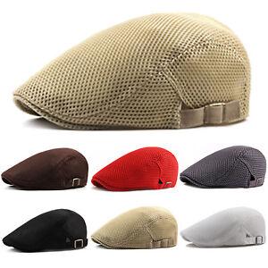 Summer-Men-Newsboy-Ivy-Gatsby-Cap-Hat-Mesh-Cabbie-Golf-Driving-Sun-Flat-Beret