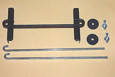 """Battery Universal Hold Down Bracket Cross Bar 10/"""" J Bolts  8/"""" or 12/"""" on Request"""