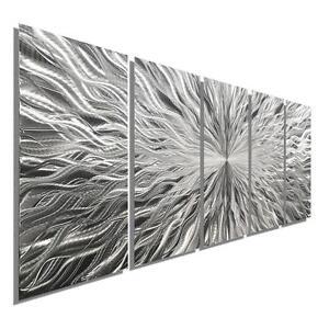Large Metal Wall Sculpture ULTRA MODERN ART Silver Home//Office Decor  Jon Allen