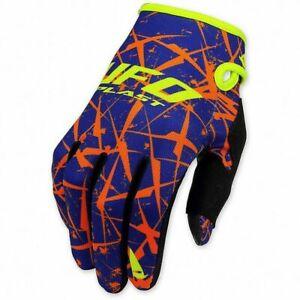 guanti-cross-enduro-Ufo-Element-colore-arancio-blu-gloves