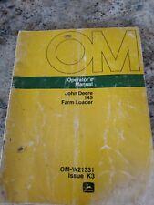 John Deere Tractor 145 Farm Loader Owners Operators Manual Omw21331 Issue K3