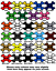 Race Numbers /& Name 3 Sets 100mm Motocross Vinyl Sticker Decals Track Bike T17