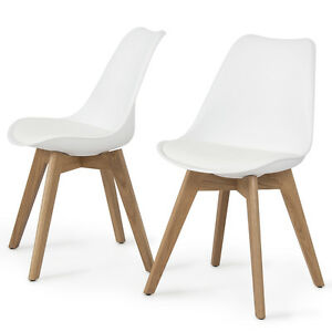 Eames Side Chair set of 2 dsw eames side chair style dining home wooden leg w seat