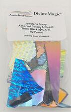 90 COE 1/2lb. 3mm Standard Thickness Black Dichroic Scrap Bag by Austin