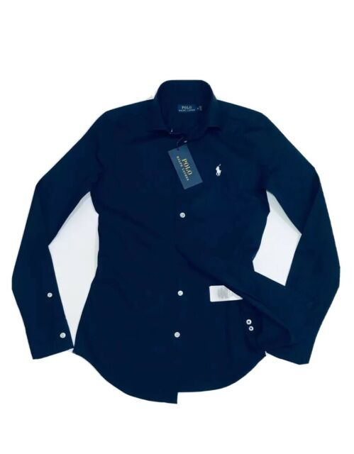 Ralph Lauren Women's Regular Fit Poplin Shirt  (Newport Navy )          RRP £109