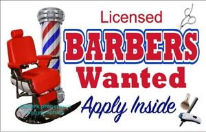LICENSED-BARBERS-WANTED-HELP-SALON-SMOOTH-PVC-PLASTIC-SIGN-CHOOSE-A-SIZE