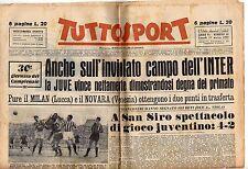 rivista TUTTOSPORT - 27/03/1950 N. 39 LA JUVE VINCE SUL CAMPO DELL'INTER