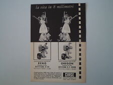 advertising Pubblicità 1961 CINEPRESE KEYSTONE PROIETTORE RENO/OREGON
