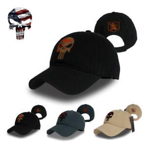 61e55e2bc2b Amercian Punisher SEAL Team Skull Cap Cotton Hat Adjusted Snapback ...