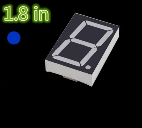 1pcs NEW 1.8 inch 1 digit Blue Led display 7 segment Common cathode