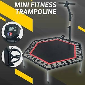 Mini Trampoline Indoor Trainer Cardio Foldable Fitness Rebounder Exercise 53""