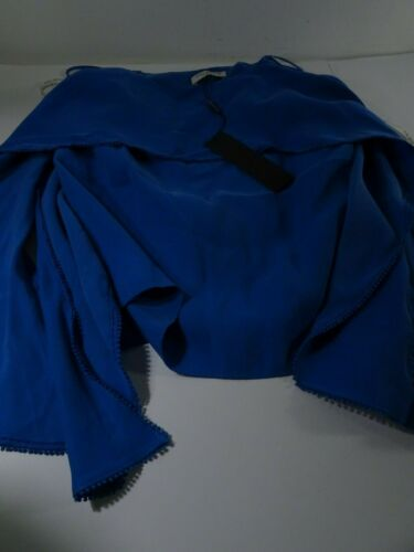 Sphere Nwt Cami 192110737188 Halston Heritage 0 Damesslipjes 325 zonder Xs mouwen Top Blu Flowy Drape 3jq5R4AL