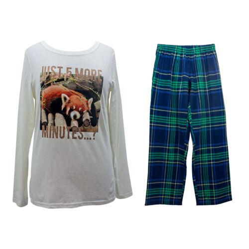 Ladies Womens Animal Print PJs Pyjamas Set Long Bottoms Size 8 10 12 14 16 18 20