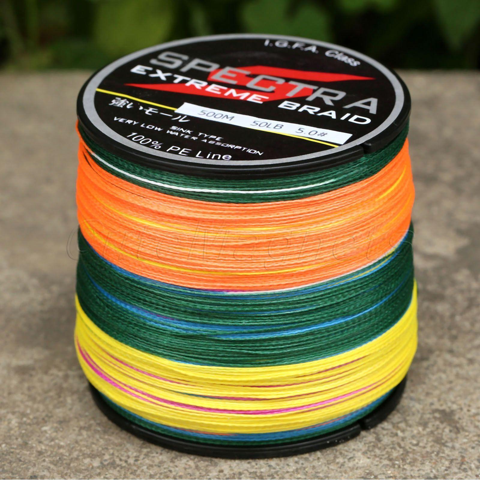 300/500/1000M 300/500/1000M 300/500/1000M 4 fili Intrecciato Lenza da pesca bianco verde fluorescente multicolor 6d3b51