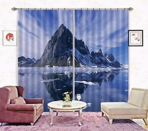 3D-Bare-Peak-14-Blockout-Photo-Curtain-Printing-Curtains-Drapes-Fabric-Window-AU